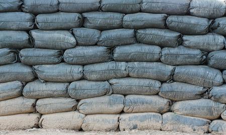 sandbag: sandbags bunker Stock Photo
