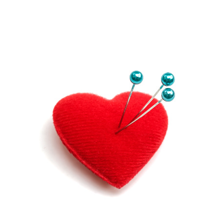 heart shape pinchshion and pin
