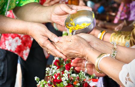 songkran: songkran ceremony in Thailand