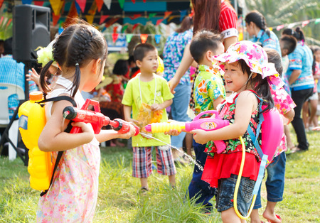 songkran: Child play in Songkran festival