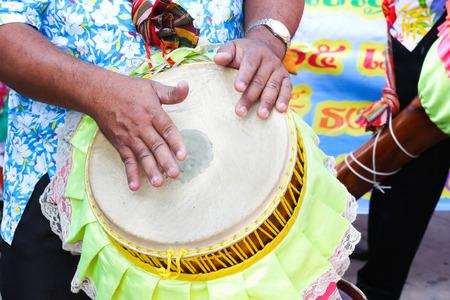 tom': Thailand tradition drum Long tom Stock Photo