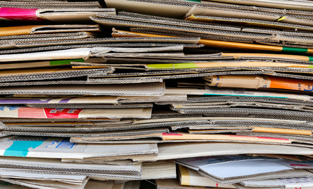 brown paper pile for recycle