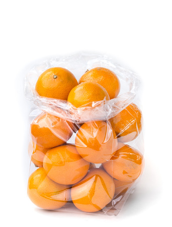 with bag: orange in clear plastic bag