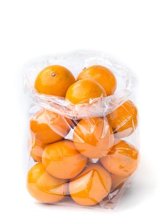 naranja color: orange in clear plastic bag