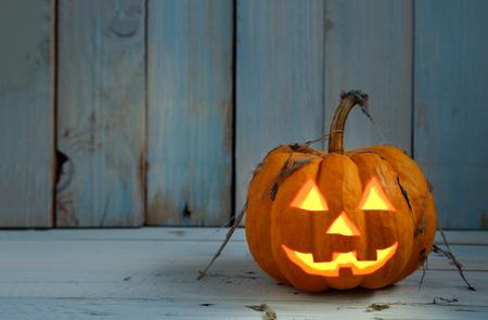 jack o  lantern: halloween pumpkin on dark scene