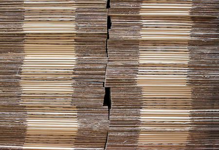paper fold: Corrugated brown paper fold box