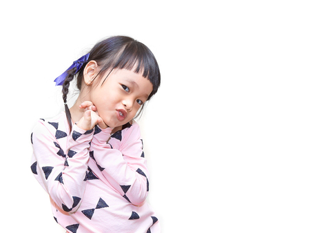 sassy: chinese child cheeky face isolated