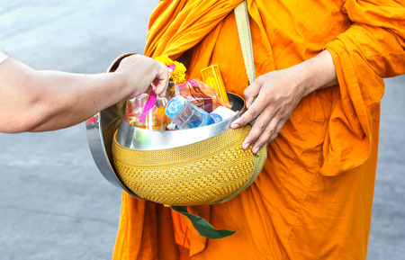monks: The monks alms in thailand