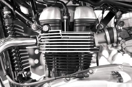 chrome: Shiny chrome motorcycle engine block Stock Photo