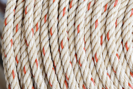 bobina: rollo de cuerda de nylon, la imagen de fondo de cerca Foto de archivo