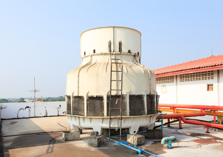 cooling towers: air conditioner cooling towers on a roof
