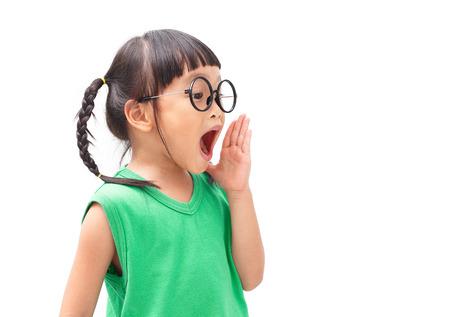 loud: Shouting loud chinese little girl