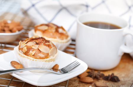 patisserie: Almond cup cakes in natural setting.