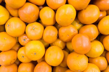 Orange fruit top view closeup