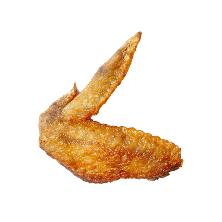 Grilled chicken wing. Clipping path