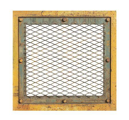 Rust steel grating frame
