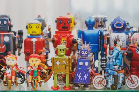 vintage robot tin toy collection