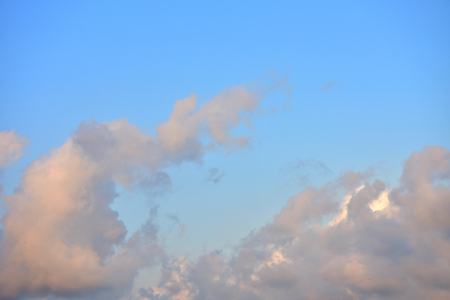 Beautiful blue sky with white clouds in the afternoon. 版權商用圖片