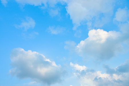 Beautiful blue sky with white clouds in the afternoon. Banco de Imagens