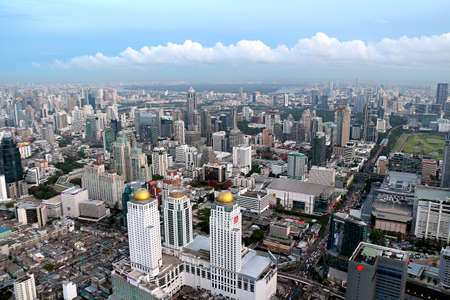 overcrowd: bangkok bird eye view Editorial