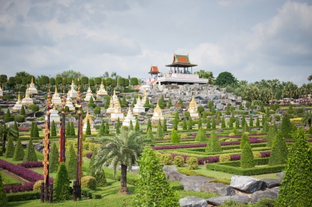 Traditional thai gardens Stock Photo