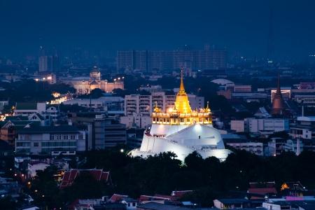 Wat Saket in twilight,Bangkok,Thailand