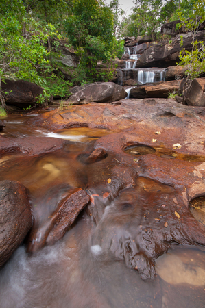 Water fall at Chanadai hill in Pha Taem National Park ,Chanadai hill is famous for seeing sunrise first time in thailand.