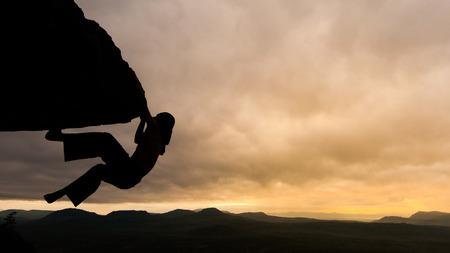 climber at sunrise Chanadai cliff