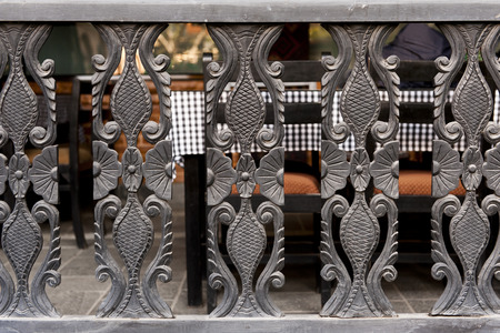 Wooden pattern for decor hotel,Nepal