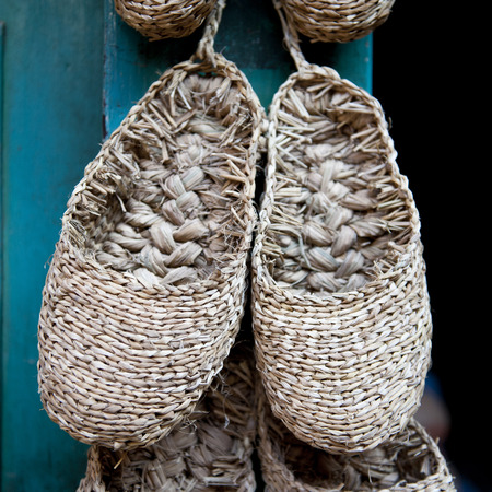 A pair of espadrilles,Nepal style