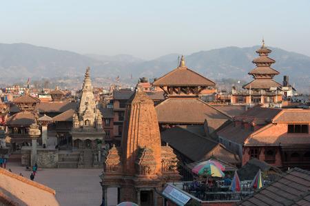 Temples of Durbar Square in Bhaktapur, Kathmandu valey, Nepal. Editorial