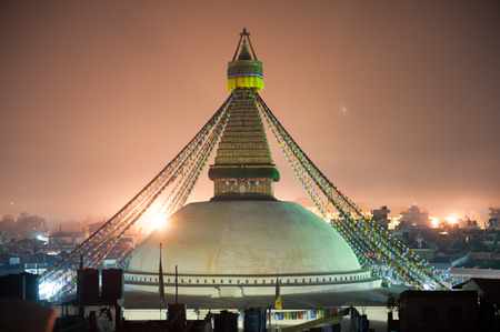 Boudhanath Stupa in the Kathmandu valley, Nepal Stock Photo