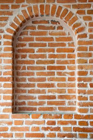 Fake window in a brick wall