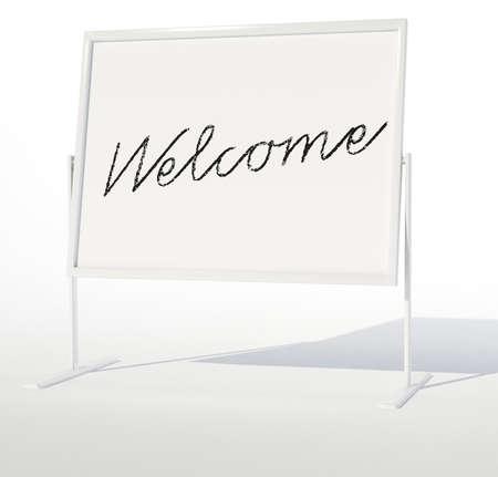 Whiteboard Willkommen
