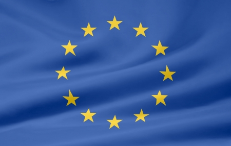 europeans: Bandiera europea  Archivio Fotografico