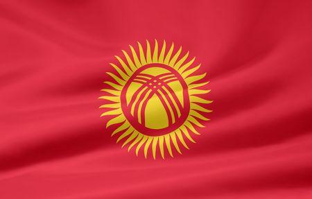 kyrgyzstan: Bandera de Kirguist�n  Foto de archivo