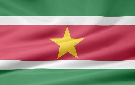 suriname: Flag of Suriname Stock Photo