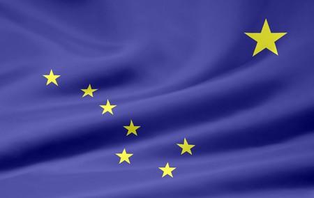Flag of Alaska Stock Photo - 7003194