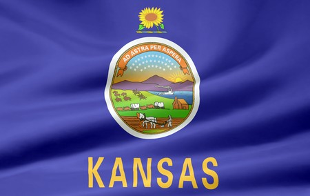 Flag of Kansas Stock Photo