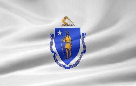 Flag of Massachusetts Stock Photo - 7003225