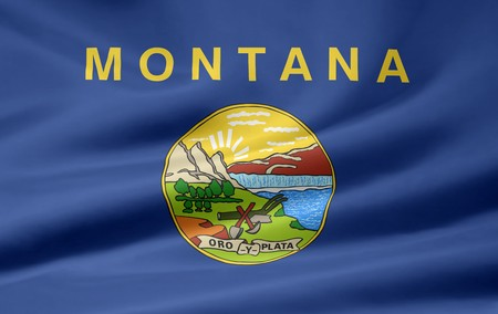 Flag of Montana - USA Stock Photo - 7003227