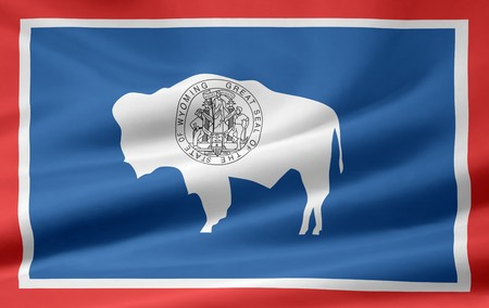 Flag of Wyoming Stock Photo - 7003206