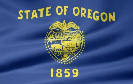 state of oregon: Flag of Oregon Stock Photo