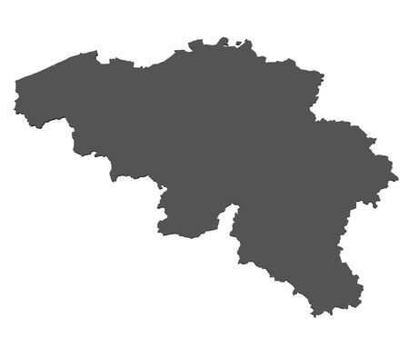 Map of Belgium - isolated photo