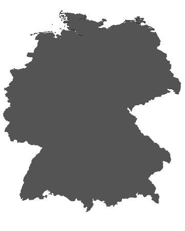 deutschland karte: Karte von Deutschland - isoliert