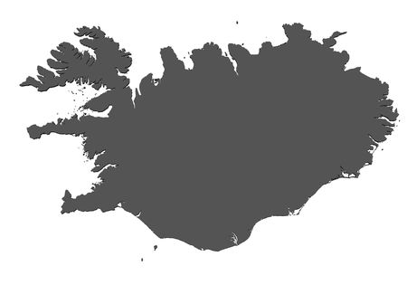 the borderline: Map of Iceland - isolated