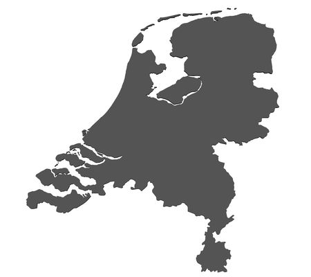 Map of the Netherlands - isolated photo