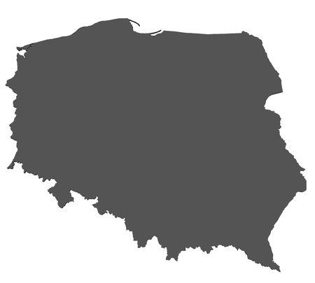 warsaw: Map of Poland - isolated Stock Photo