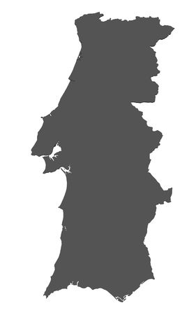 Map of Portugal - isolated photo