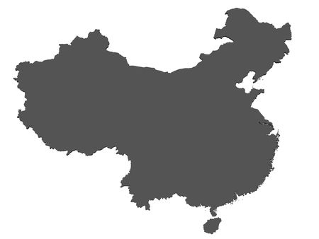 the borderline: Map of China - isolated